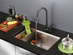 Kitchen Faucets With Pull Out Spray by Ruvati Citadel Single Handle Kitchen Faucet With Pull Out Spray
