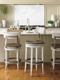 Marble Island Kitchen Backless Kitchen Bar Stools Open White Cabinet Rack Wall Mounted