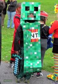 Halloween Minecraft Costume Diy Minecraft Creeper Costume Gray Sweatsuit 1 5 Squares