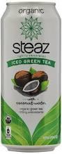 amazon com steaz iced tea can lime green pomegranate gluten