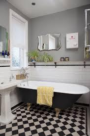 bathroom victorian tiled floor with underfloor heating