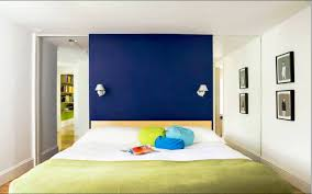 amazing colorful bedroom wall designs with color blocking in the