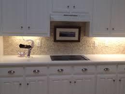 kitchen travertine stone tile kitchen backsplash in light brown