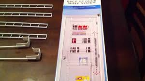 pantry door storage back of door storage rack part 1 youtube
