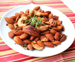 spicy rosemary cocktail nuts low carb and gluten free all day
