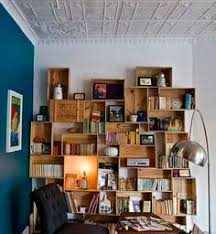 Wooden Crate Bookshelf Diy by Very Cool Diy Bookshelf Picture Only This Looks Fairly