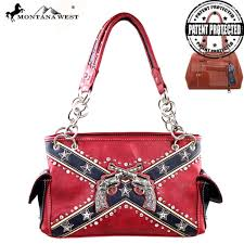 Rebel Flag Home Decor by Cfd01g 8085 Montana West Confederate Flag Collection Handbag New