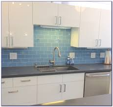 Glass Subway Tile Backsplash Kitchen Blue Glass Tile Backsplash Kitchen Tiles Home Decorating Ideas