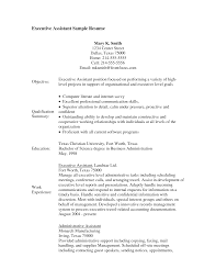 Example Objectives For Resumes by Resume Sample Administrative Assistant Free Letter Resume
