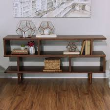 Container Store Bookshelves Walnut Brown Wood Ashlyn Bookshelf World Market