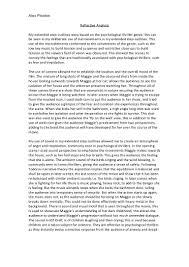 reflective essay samples reflective analysis film studies