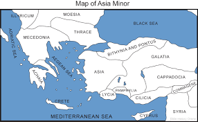 Map Of Asia by Map Of Asia Minor Bible History Online