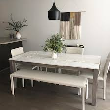 modern dining sets mix and match to fit your style linden dining table and sava chairs bench