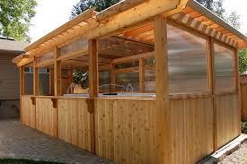 Enclosing A Pergola by Enclosed Pergola Crafts Home