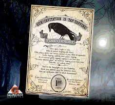 the raven nervermore new years eve the raven poem invitation