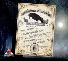 new years wedding invitations the raven nervermore new years eve the raven poem invitation