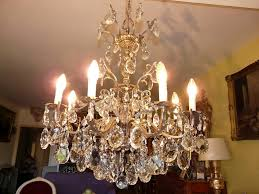Crystal Chandeliers For Dining Room Antique Brass And Crystal Chandelier For Dining Room U2014 Best Home
