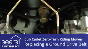 how to replace a cub cadet zero turn riding mower ground drive