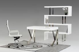 Contemporary Office Desk by Modern White Lacquer Office Desk