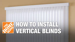 how to install outside mount vertical window blinds youtube