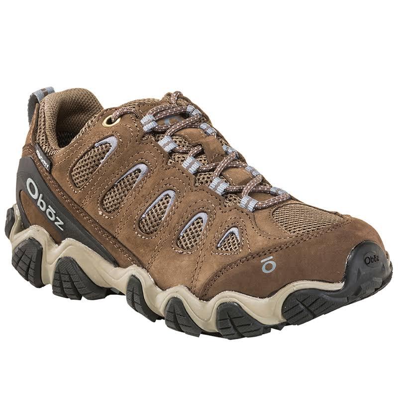 Oboz Sawtooth II Low B-DRY Hiking Boot Brindle / Tradewinds Blue 7.5 Wide 23402-BTB-Wide-7.5