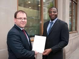 Concordia presents      Corporate Risk      Prize to winner Tolulope Adesanya