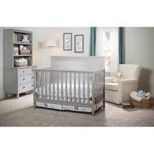 White Convertable Crib by Delta Children Epic 4 In 1 Convertible Crib White Walmart Com