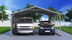 Carport Styles by 20x21 Two Car Metal Carport
