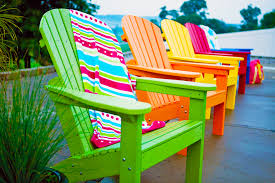 Adirondack Row Bright Colors Outdoor Decor Pinterest Bright - Colorful patio furniture