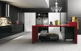 Red And Black Kitchen Ideas Black Red White Kitchen Rigoro Us
