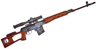 The Dragunov is a widely used Soviet Sniper Rifle.