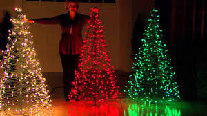 pretty large outdoor christmas decorations with lighted rein deer