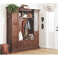 Home Decorators Reviews Home Decorators Collection Royce Smoky Brown Hall Tree 7474200820