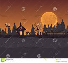 seamless repeating cartoon background for halloween stock vector