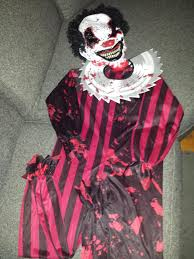 killer clown costume spirit halloween best spirit halloween killer clown costume size 10 to 12 yrs