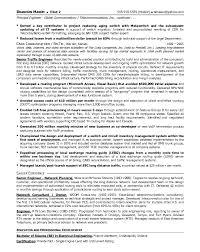 Director Of Operations Resume Sample by Resume Sample 13 Senior Telecommunications Engineering