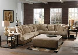 furniture comfortable interior furniture design with cozy elegant beige sectional sofa by ballards furniture with beige ottoman and karastan carpet for elegant living