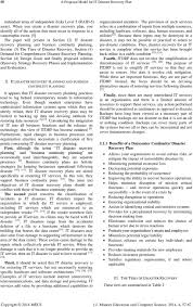Business Continuity And Disaster Recovery Plan Template A Proposed Model For It Disaster Recovery Plan Pdf