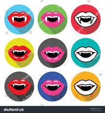 vampire fangs spirit halloween vampire mouth vampire teeth vector flat stock vector 276328496