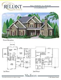 House Plans 2 Story by Reliant Homes The Madison Plan Floor Plans Homes Homes For