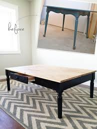 Repurposed Coffee Table by Ana White Turned Leg Coffee Table With Apron Drawer Diy Projects