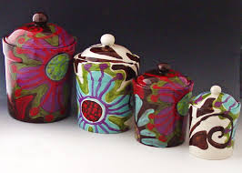 how to paint your ceramic canisters so doing this kitchen