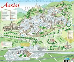 Tuscany Map Assisi Italy Sightseeing Map Holiday 2014 Tuscany