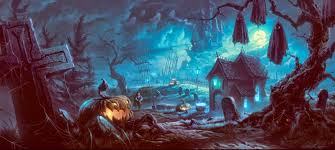 orange halloween hd background halloween scary horror nights scarecrow pumpkin haunted house hd