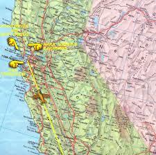 California Maps Road Map Northern California California Map