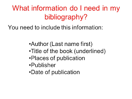 MLA Format Bibliography Imhoff Custom Services