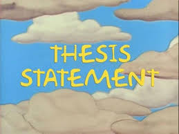 essay writing thesis statement