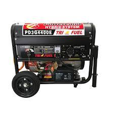 powerland 4 400 watt tri fuel gasoline propane ng generator 7 5 hp