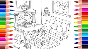 Kids Living Room Coloring Pages Living Room Living Room Coloring Books Pages For
