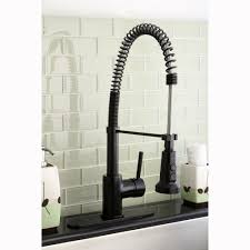 Oil Rubbed Kitchen Faucets Kingston Brass Concord Modern Oil Rubbed Bronze Spiral Pull Down